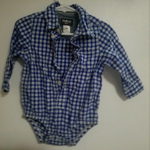 Long sleeve button up and 2 polo body suits